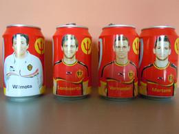 België Belgique Jupiler Bier Bière Voetbal Foot WK 2014 Mondiale 4 Blikjes Leeg Cannettes Vides Spelers Joueurs - Cans