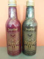 België Belgique Tomorrowland 2016 Jupiler Bier Bière 2 Flesjes Blik Leeg Bouteilles Allu Vide Minimal + Trance Edition - Cans
