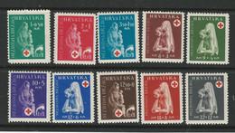 CROAZIA 1943 ❌ Pro Croce Rossa ❌ N. 105 /14 * - Cat. ? € - Lotto N. 251b - Kroatië