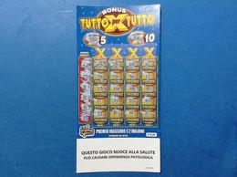 ITALIA BIGLIETTO LOTTERIA GRATTA E VINCI USATO € 10,00 BONUS TUTTO PER TUTTO LOTTO 3011 ITALY LOTTERY TICKET - Billetes De Lotería