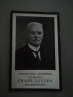 Bidprentje Luyten Frans Ere Schoolhoofd St Jozefscollege Aarschot ° 1864 Overl 1933 - Todesanzeige