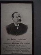 Bidprentje Carpentier Joannes Echtg Boeckx ° Arendonk 1854 Overl Antwerpen 1904 Kapelmeester St Augustinuskerk - Todesanzeige