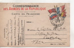 Cpa.Militaire.guerre 14-18.Correspondance Des Armées De La République.1915 - Weltkrieg 1914-18