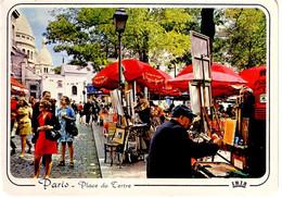 Paris Montmartre , La Place Du Tertre ( Peintre , Sacré Coeur... - Squares