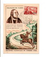 ALGERIE CARTE MAXIMUM 1956 JOURNEE DU TIMBRE - COLOMB BECHAR - Storia Postale
