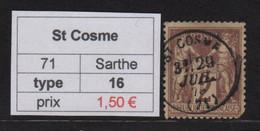 St Cosme - Sarthe - Type Sage - 1877-1920: Periodo Semi Moderno