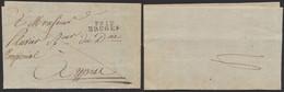 """LAC Datée De Bruges (22 Messidor An 13) """"Le Directeur De L'enregistement"""" + Obl Linéaire P91P / BRUGES > Ypres - 1794-1814 (Periodo Frances)"""