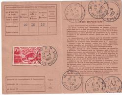 1950 - POSTE AERIENNE YT 27 SEUL Sur CARTE ABONNEMENT De NICE ! - 1927-1959 Brieven & Documenten