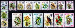 FIJI  1971 BIRDS SET USED  ( NO 6 C) - Fiji (1970-...)