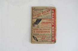 Carnet Des Horaires Des Trains Dans L'Est En 1938 Avec Publicité D'époque Autour De Strasbourg - Europe