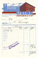 DE 617 - Facture De L'Hotel Union, Innsbruck C 1930 - Austria
