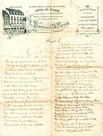 DE 618 - Papier A Lettres De L'Hotel Du Rivage, Heyst-sur-Mer - 1800 – 1899