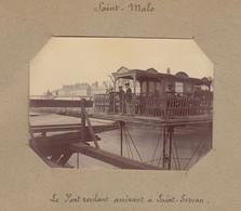 1896 Photo De Saint Malo Bretagne Le Pont Roulant à Saint Servan - Luoghi
