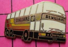 113a Pin's Pins / Beau Et Rare / THEME : TRANSPORTS / AUTOBUS ROUTIER SETRA A IMPERIALE DEVILLAIRS - Transportation