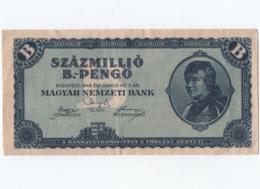 Szazmillio B  Pengo    1946 - Hungary