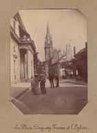 1896 Photo De Saint Malo Bretagne Place Duguay Et L'église - Luoghi