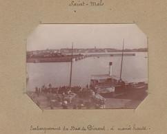 1896 Photo De Saint Malo Bretagne Bateau Embarquement Au Bac De Dinard - Luoghi