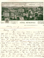 DE 622 - Lettre De L'Hotel Metropole, Bad Langenschwalbach C 1900 - 1900 – 1949
