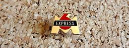 Pin's MEDIA TELE RADIO -  M6 émission Express - Peint Cloisonné - Fabricant Inconnu - Medias