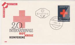 FDC Ö-1965 - Mi 1195 (24) , Internationale Rotkreuzkonferenz , ST Bregenz - FDC