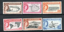 Ascension 1956 - Values Complete To 3d SG57-62 MNH Cat £20.60 SG2020 - Ascension