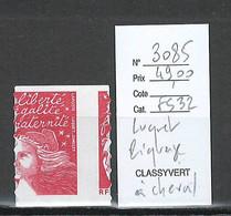 France - Yvert 3085 - Marianne De Luquet - TVP De Carnet - PIQUAGE A CHEVAL - Varietà: 1980-89 Nuovi