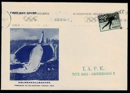 Norwegen 1951,Michel# 372 O Auf Brief Mit Stempel Der Olymp. Spiele 1952 - Covers & Documents