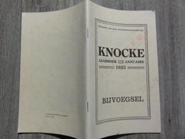 Knokke  * (boekje - Bijvoegsel)   Knocke, Jaarboek 1923 - Uitgave Van Den Middenstandsbond - Knokke