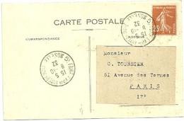 MOSELLE - Dépt N° 57 = METZ 1932 = FOIRE EXP INTER / EXPOSITION  = CACHET TEMPORAIRE + CPA - Commemorative Postmarks