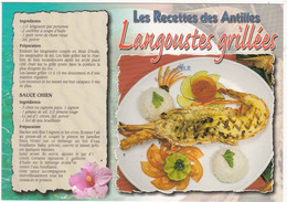 GUADELOUPE: Recette De Cuisine: LANGOUSTES GRILLEES  N° G.179  (neuve) - Küchenrezepte
