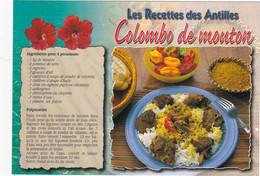 GUADELOUPE: Recette De Cuisine:  COLOMBO DE MOUTON   N° G.181 (neuve) - Küchenrezepte