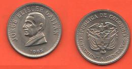 Colombia 50 Centavos 1965 Half Peso Jorghe Gaitan Nickel & Typological Coin - Colombia