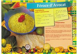 MARTINIQUE : Recette De Cuisine:  FEROCE D'AVOCAT   N° MART  M-206 (neuve) - Küchenrezepte