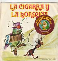 España. Disco De Vinilo A 45 Rpm. Cuentos. La Cigarra Y La Hormiga. Condición Media. - Bambini