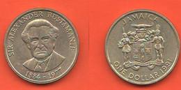 Giamaica 1 One $ Dollaro Dollar 1991 Jamaica  Nickel Coin - Jamaica