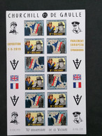 Charles De Gaulle 70e Anniversaire De La Victoire Feuille Non Dentelé ** - Unused Stamps