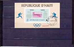 BLOCS VAINQUEURS MARATHONS OLYMPIQUES 2G NSG N°27A YVERT ET TELLIER 1968 - Haiti