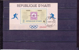 BLOCS VAINQUEURS MARATHONS OLYMPIQUES 1G50 NEUF ** N°26 YVERT ET TELLIER 1968 - Haiti
