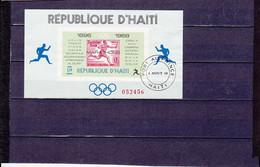 BLOCS VAINQUEURS MARATHONS OLYMPIQUES 1G50 NSG N°26A YVERT ET TELLIER 1968 - Haiti
