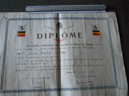 Diplôme Secours D'hiver 1942 - Diploma's En Schoolrapporten