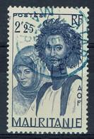 Mauritanie, 2f25, Couple Maure, 1939, Obl, TB  Superbe Cachet Bleu De ATAR - Used Stamps