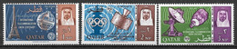 1964 Qatar Mi. 74-71 **MNH    100 Jahre Internationale Fernmeldeunion (ITU) - Qatar