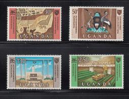 1967 Uganda Commonwealth Parliamentary Association Coat Of Arms  Complete Set Of 4  MNH - Uganda (1962-...)