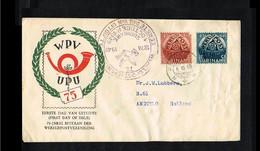 1949 - Suriname FDC V5_7M - Organizations - UPU - 75 Years [SA016] - Suriname ... - 1975