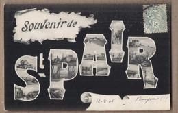 CPA  50 - SAINT-PAIR - SOUVENIR DE - TB CP Multivue En Cartes Postales - Saint Pair Sur Mer