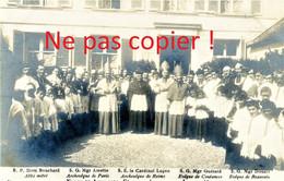 CARTE PHOTO ANCIENNE - ARCHEVEQUES AUX FETES DE JEANNE D'ARC A NOYON OISE - 1909 - Noyon