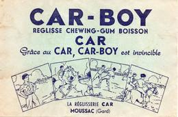Buvard CAR-BOY Réglisse Chewing-gum Boisson Chevaux SUPERBE - Animals