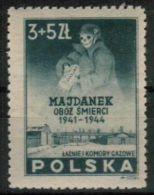 Poland 1946 Majdanek Mi 436 KL Concentration Lager And Extermination Camp Nazi Cyklon B Holocaust MNH ** - Nuevos