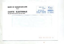 Lettre Machine Gien Carte Electoral Tarif - Maschinenstempel (Sonstige)