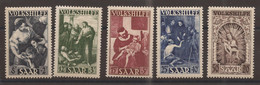 SARRE SERIE DE 5 TIMBRES 1949 AU PROFIT DES OEUVRES POPULAIRES 263 A 267 - Neufs
